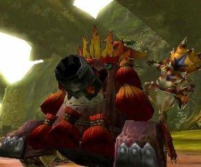 Танк обстреливает огромного краба в трейлере Monster Hunter 4G