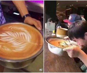 Маловато будет: китайцы затроллили Starbucks тазами икастрюлями