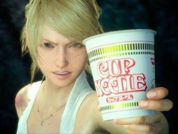 Square Enix впихнула в Final Fantasy XV своего главу и лапшу в стакане