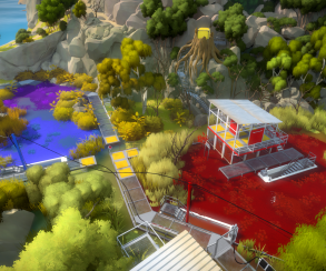 Научный центр в цветастом болоте попал на новые скриншоты The Witness