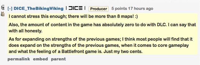 Star Wars Battlefront не будет откладывать контент на DLC - Изображение 1