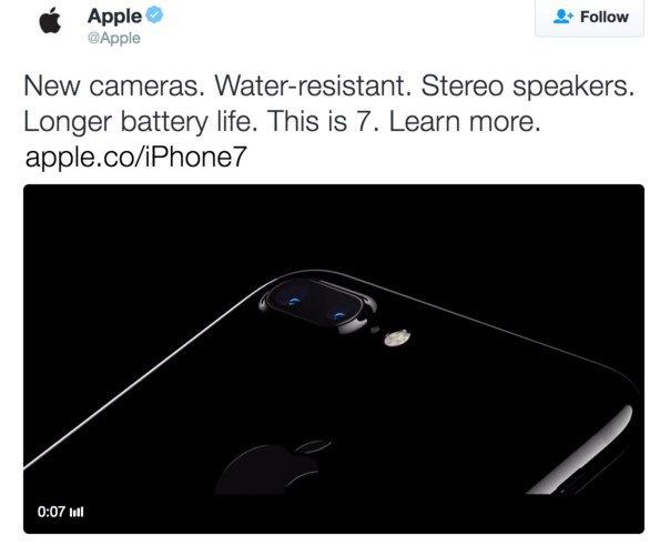 Apple анонсировала iPhone 7 раньше времени, а потом удалила твит - Изображение 1