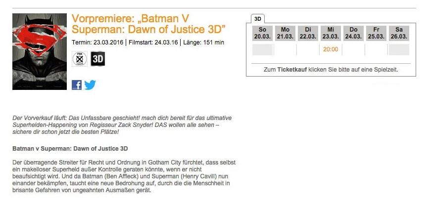 Немецкие прокатчики раскрыли хронометраж «Бэтмена против Супермена» - Изображение 2