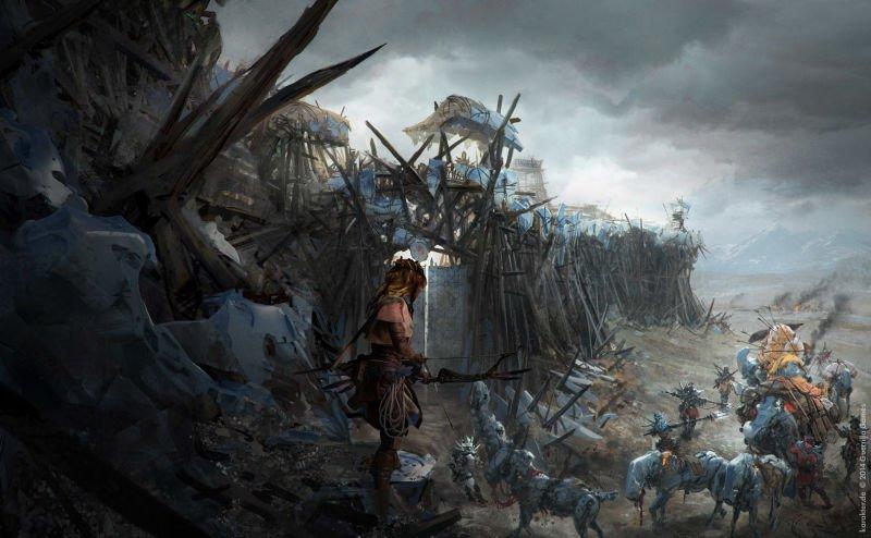Прекрасные концепты Horizon: Zero Dawn отхудожников «Игры престолов» - Изображение 26