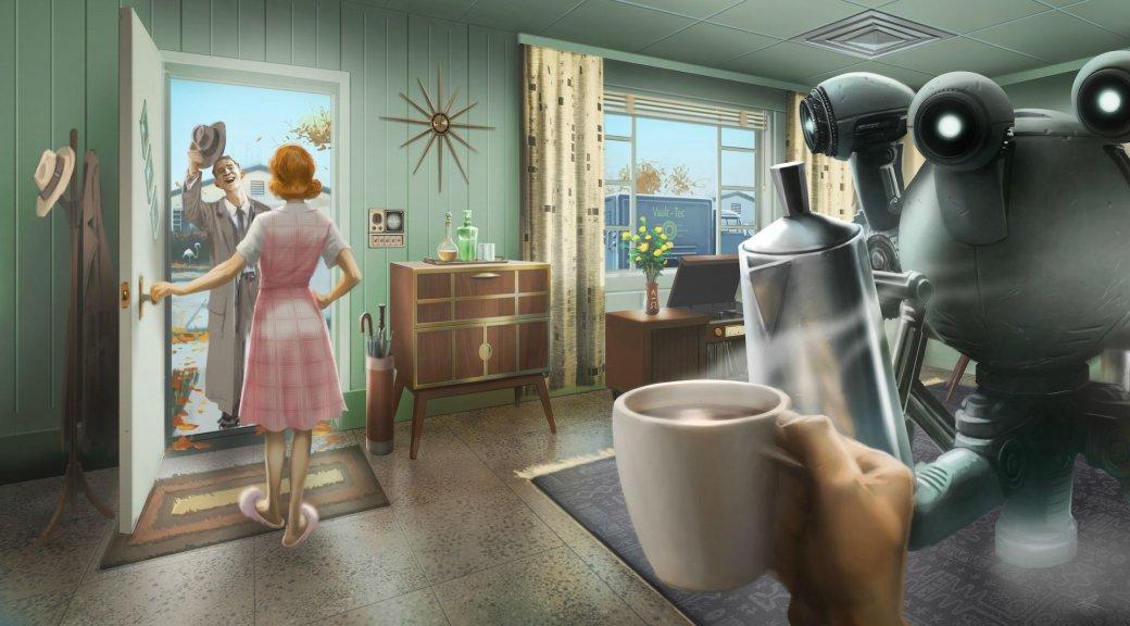 Женщина, собака и пулемет на борту в новом арте и скринах Fallout 4 - Изображение 1