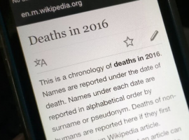 Самые часто редактируемые статьи 2016 года по версии «Википедии»