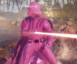 Фанаты «Звездных войн» затроллили EA розовым Дартом Вейдером. А потом и белым