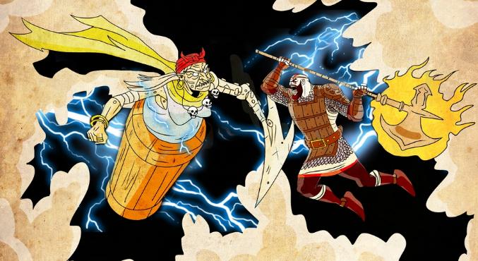 Кратос vs Баба-яга!