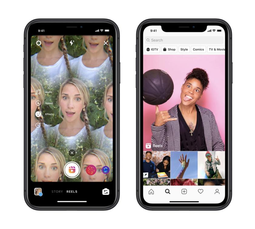 Facebook запустил приложение Instagram Reels - главного конкурента TikTok