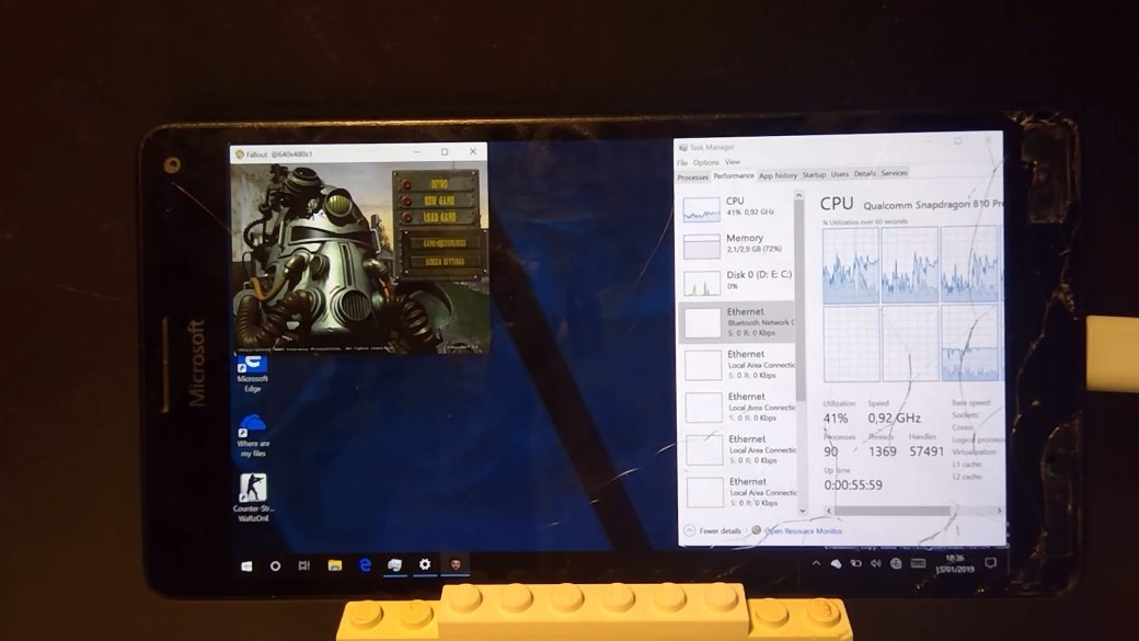 Fallout на смартфоне: оригинальную игру запустили на Microsoft Lumia 950 XL с полноценной Windows 10   Канобу - Изображение 1