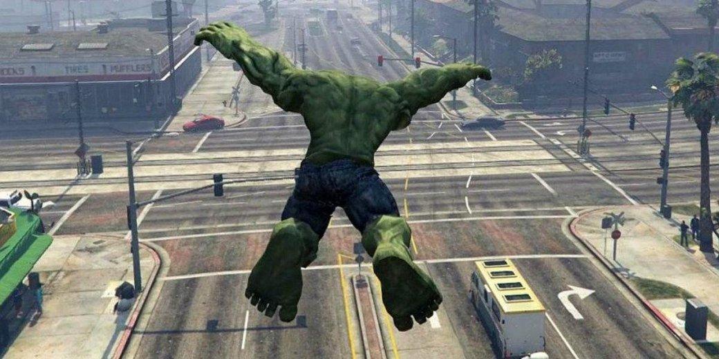 Халк стал преступником: вышла новая версия мода, добавляющего в GTA V зеленого гиганта | Канобу - Изображение 0