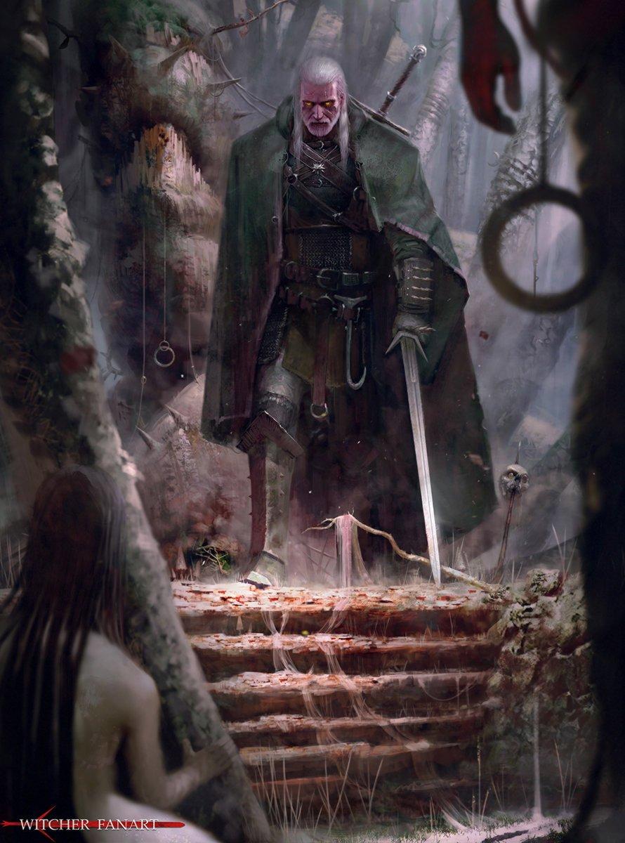 Галерея. Крутейший фанарт по«Ведьмаку», откоторого сразуже хочется перепройти трилогию игр | Канобу - Изображение 6283