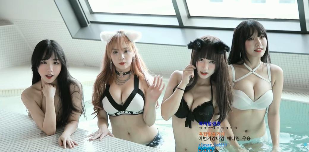 Корейские модели провели стрим вкупальниках. Twitch ихзабанил | Канобу - Изображение 1