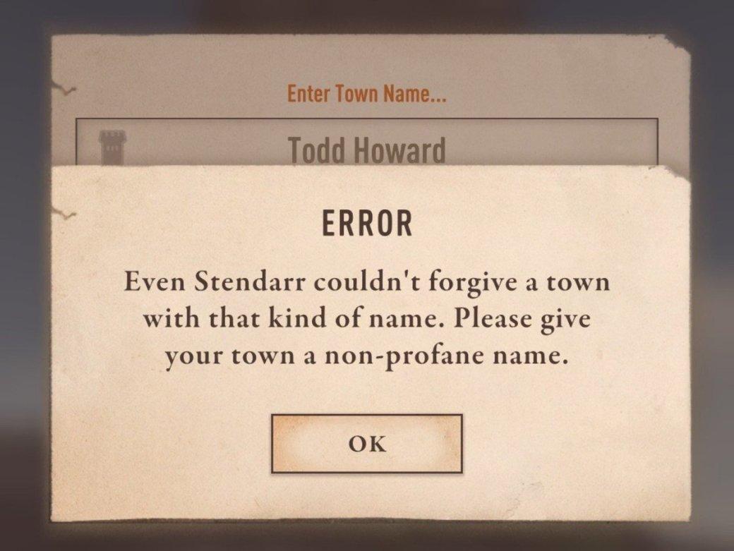Геймеры сообщают— вThe Elder Scrolls: Blades нельзя назвать город вчесть великого Тодда Говарда | Канобу - Изображение 0