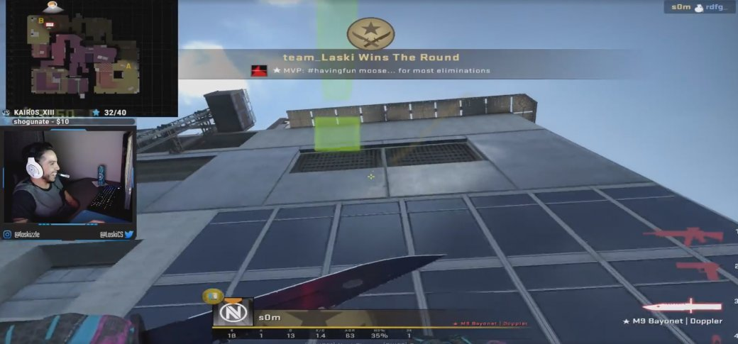 Рискованный челлендж в CS:GO. Выпрыгнул за пределы карты, но успел взорвать противника гранатой | Канобу - Изображение 1