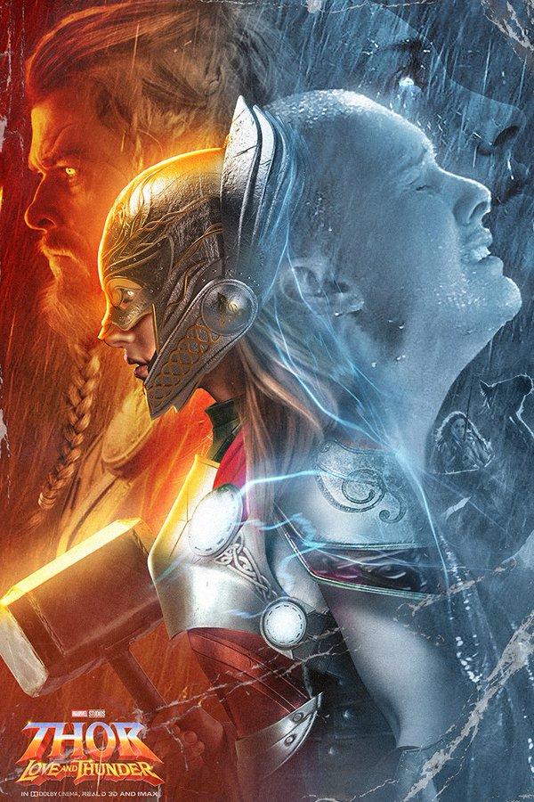 BossLogic нарисовал крутой постер «Тора: Любовь игром» сКрисом Хемсвортом иНатали Портман | Канобу - Изображение 8937