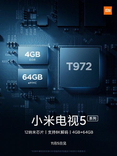 Поддержка 8К-видео иQLED-экран: фото ихарактеристики смарт-телевизоров Xiaomi MiTV5 [Обновлено]