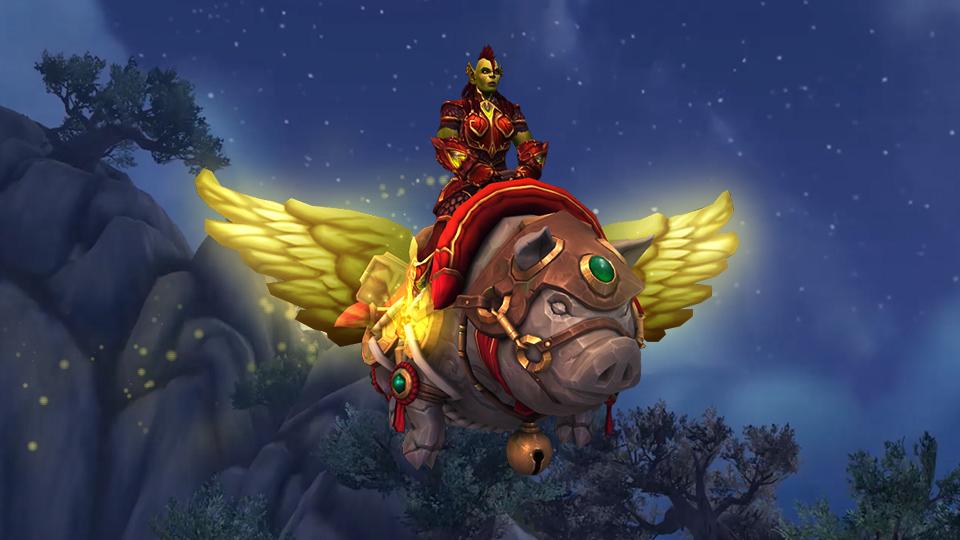 Всем по крылатому свину! В World of Warcraft появился новый маунт по кличке Хрюндель | Канобу - Изображение 1