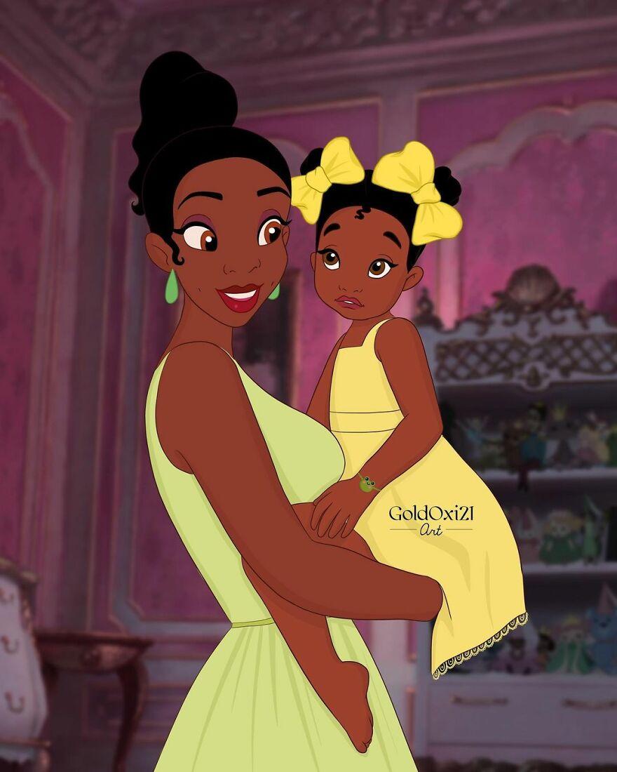 Российская художница изобразила принцесс Disney ввиде мам сдетьми | Канобу - Изображение 12077